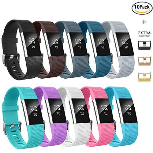 Fitbit Charge 2 Bands, AIUNIT Fitbit Charge 2 Accessories Bands Small/Large Replacement Wristbands for Fitbit Charge 2 Bracelet Strap Band Suitable for Women Men Boys Girls