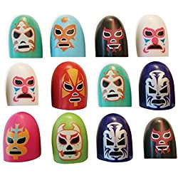Luchadores Party Favors Thumb Covers - 12 Pack