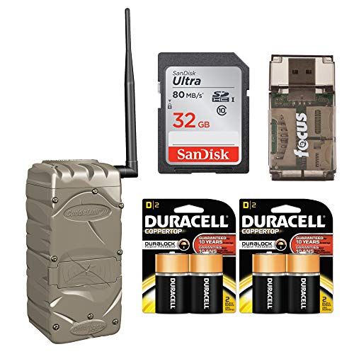 Cuddeback CuddeLink Home Wireless Image Receiver for Trail Cameras (1385) with Batteries and 32Gb Memory Card