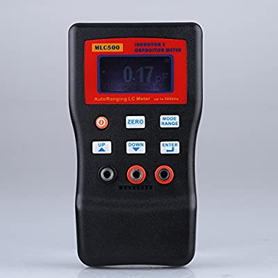 MLC500 Auto Rang LC Meter Inductor Capacitor Meter 1% Accuracy 500KHz Test Connect PC Storing + SMD Clip