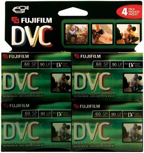 Fuji 4 Pack 60-Minute MiniDV Tapes (DVCM604PK) by Fujifilm