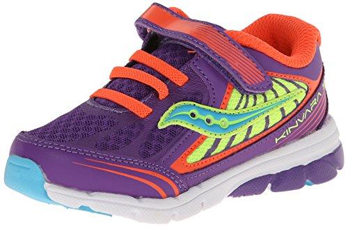 Saucony Girls Baby Kinvara 5 Sneaker (Toddler) Purple/Coral/Citron