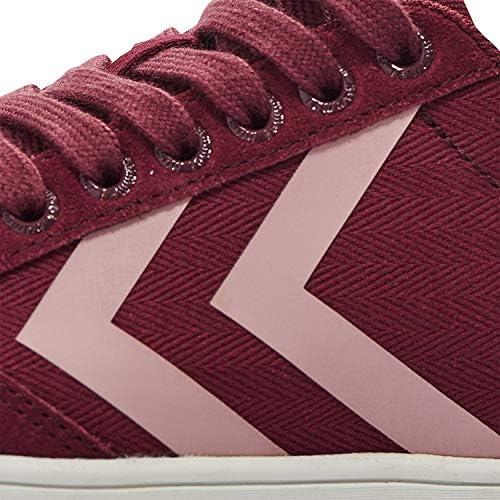 Hummel Dames Slimmer Stadil Hb Low Sneakers Rood Rumba Red 3163