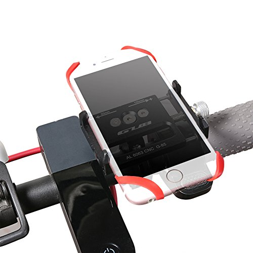 Aluminum Bike Phone Mount Holder Universal Adjustable Handlebar Cell Phone Holder For iPhone X 5 6 7 8 Plus Samsung LG,Hold Phone Up To 3.5 Wide PLUS6 BLUE Gub Bicycle Phone Mount