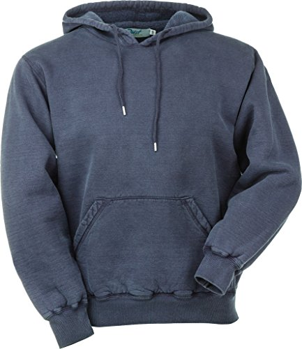 JustSweatshirts Unisex Pullover 100% Cotton Hooded Sweatshirt Navy Sand Large - Cotton 100 Sweatshirts