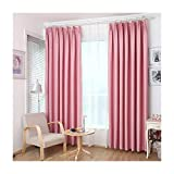 Aspire 2 Pcs Elegant Thermal Window Curtain Panels, 51.1 by 86.6 Inch - Pink