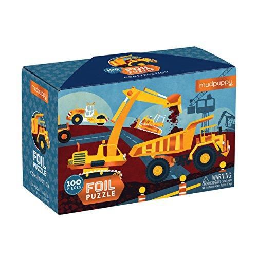 Mudpuppy Construction Foil Puzzle (100 Piece)