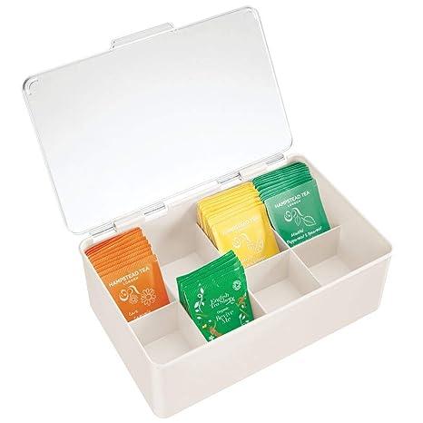 Amazon.com: mDesign - Caja de almacenamiento para bolsas de ...