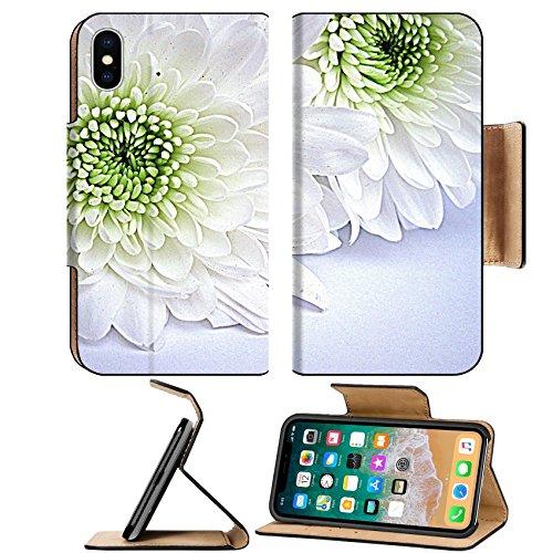 Liili Premium Apple iPhone X Flip Pu Leather Wallet Case ID: 21796336 White dahlias HDR Dahlia Dishes