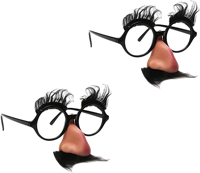 drôle sourcils moustache noir grand nez unisexe halloween costume lunettes
