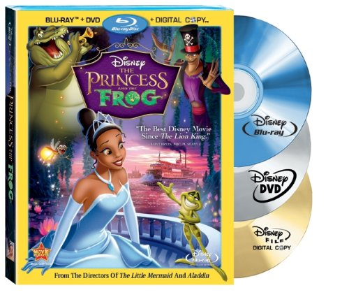 The Princess and The Frog (Three Disc Combo: