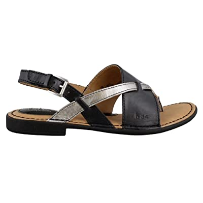 e55f21266e8be B.O.C Womens Lowery Split Toe Casual Leather Flat Sandals ...