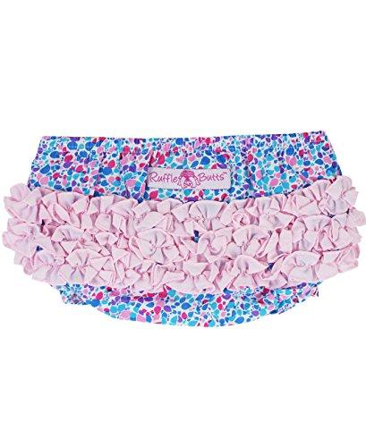 RuffleButts Infant / Toddler Girls Ruffled Woven Bloomer - Blue/Candy/Pink - 12-18m