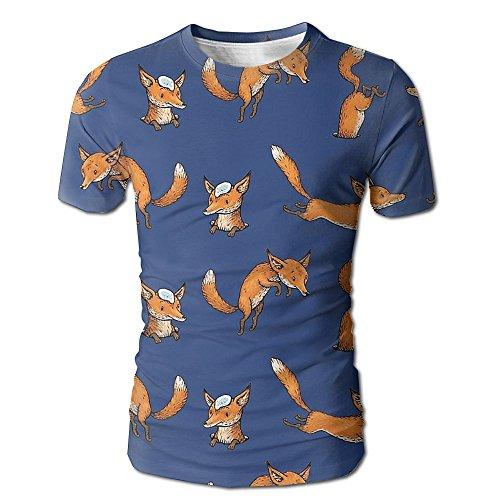 Dog Shark Costume Uk (Men Naughty Fox 3D Graphic T-Shirt Humoroust Tees Medium)