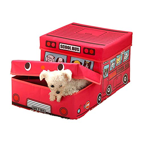 Pet Steps Pet Stairs Folding 2 Steps for Dog, for Cat Bed/Sofa, Cute Car Style Cat Stairs with Storage Box Car Plaid Multi-Purpose Bed Sofa Step