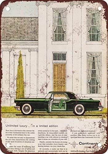 Continental Mark Lincoln 1956 - OVCC 1956 Lincoln Continental Mark II, diseño clásico de reproducción Tin Sign – Placa de Metal 7.8inch11.8inch