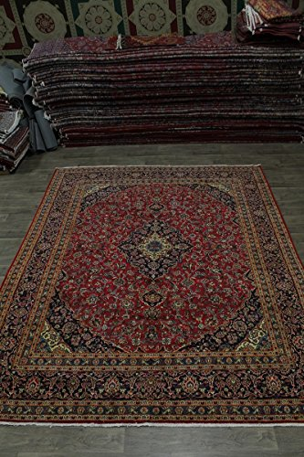 - Admin Rugs Delightful S Antique Handmade Red Kashan Persian Style Rug Oriental Area Carpet 10X12