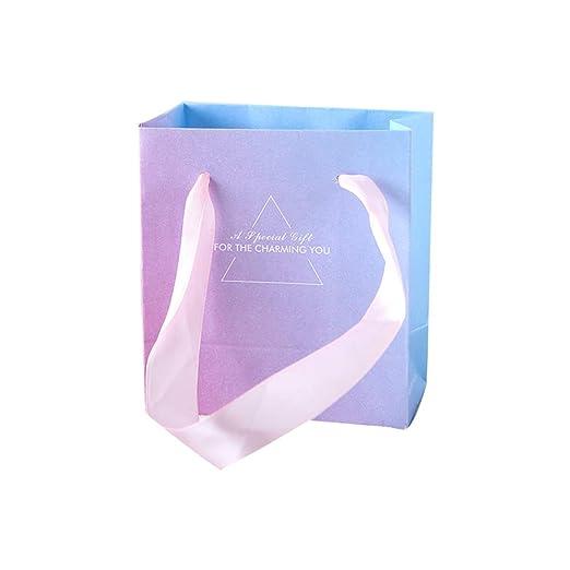 Bolsa de regalo de papel rosa degradado y morado, bolsa de ...