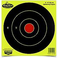 """Birchwood Casey Blanco Dirty Bird BC Bulls Eye Amarillo 8"""", 8 Piezas"""