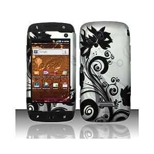 Black Swirl Hard Cover Case for Samsung T-Mobile Sidekick 4G SGH-T839
