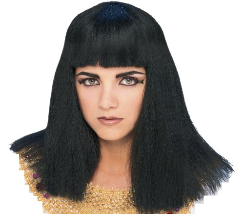 Rubie's Characters Cleopatra Wig, Black, One (Egyptian Man Adult Wig)