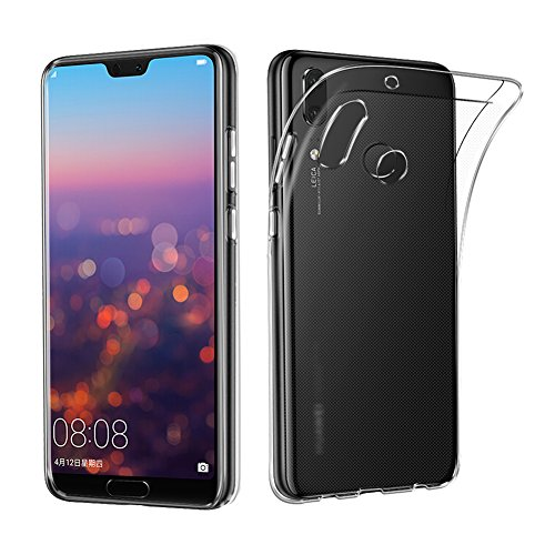 Huawei P20 Lite Case, AVIDET Shock-Absorption Flexible Soft Gel TPU Silicone Case Cover for Huawei P20 Lite (Transparent)