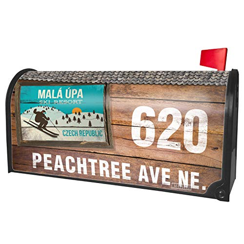 NEONBLOND Custom Mailbox Cover Mal pa Ski Resort - Czech Republic Ski -