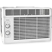 hOmeLabs Cold Window Air Conditioner 5000 BTU - Small Cool AC Unit Kit with 7 Speed Fan Eco Filter Support Bracket Side Panels Covers - Mini Electric White Auto AC Best for RV or Small Hot Room