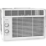 Appliances : hOmeLabs Cold Window Air Conditioner 5000 BTU - Small Cool AC Unit Kit with 7 Speed Fan Eco Filter Support Bracket Side Panels Covers - Mini Electric White Auto AC Best for RV or Small Hot Room