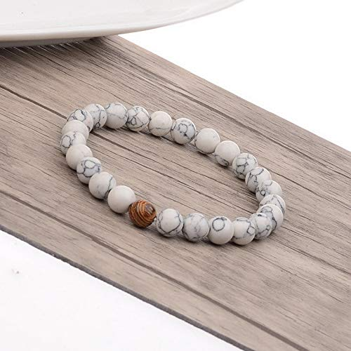 Gatton 2Pcs Distance Bracelets Lovers Couples Matching Gift Matte Agate 8mm Bead Stone | Model BRCLT - 41769 |