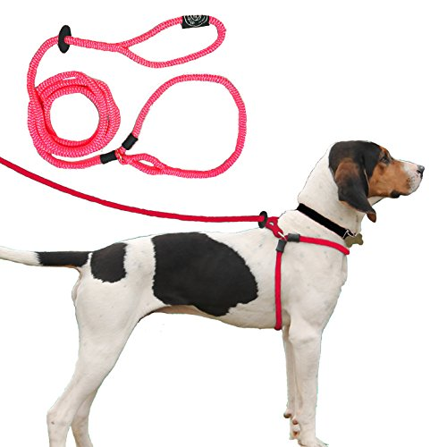 dog harness large pink - 7