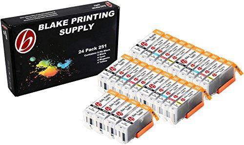 24 Pack Blake Printing Supply CLI-251XL 251 XL PGI-250XL 250 XL Ink Cartridges for Canon PIXMA iP7220 iX6820 MG5420 MG5422 MG5520 MG5522 MG5620 MG5622 MG6420 MG6620 MX722 MX922 (Printing Supplies)