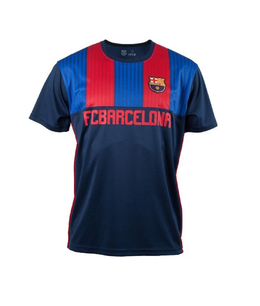low priced 8926f 809af FC Barcelona Stripes Retro Jersey T-Shirt: Amazon.co.uk ...