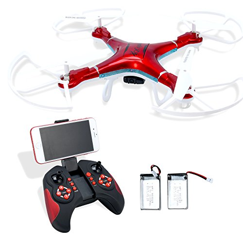 QCopter Drone Quadcopter With HD FPV Wifi Camera BONUS Drones Battery