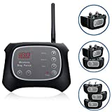 WXLAA Wireless Electric Pet Fence Containment 2 Dog System Waterproof Transmitter Collar