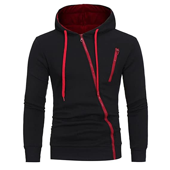 Outwear Langarm Jacke Männer Winter Mantel Mode Hooded Outdoor HerrenLhwy Sweatshirt Reißverschluss Tops Shirt Hoodie Casual Tilt Sport TclK31FJ