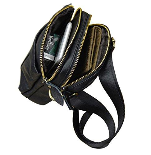 Genda 2Archer Bolso de Múltiples Funciones de Cuero de la Cintura del Hombro Para los Hombres (14cm * 5cm * 20cm)