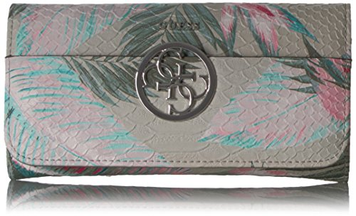 Kamryn Floral Large Flap Organizer Wallet, Palm, One Size - Guess Purses Wallets