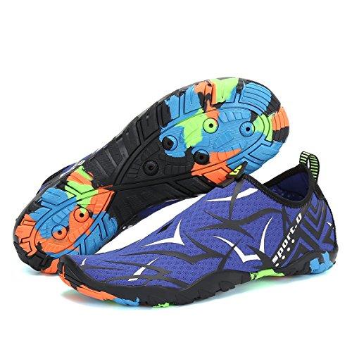 Natación Surf Azul blanco Zapatillas Playa Piscina Ligera Water Zapatos De Shoes Agua Transpirables Hombre Yoga Voovix Escarpines 7vxFZa