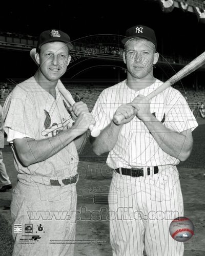 Stan Musial & Mickey Mantle 1960 All Star Game Photo 8x10 (Sports Photographs)