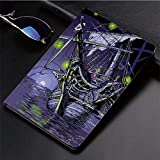 Compatible with 3D Printed iPad 9.7 Case - Ghost Ship on Fantasy Caribbean Ocean Adventure Island Haunted - Lightweight Anti-Scratch Shell Auto Sleep Wake - Back Protector Cover iPad 9.7