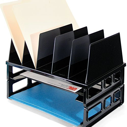 Officemate Letter Trays and Vertical Sorter, Black (22102)