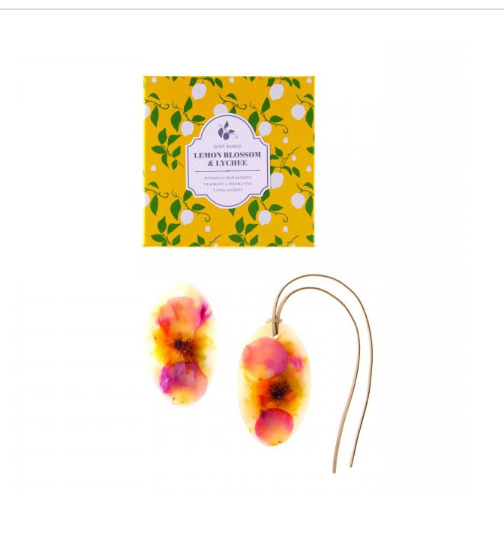 Rosy Rings Lemon Blossom Lychee Oval Wax Sachets – 2のセット B01LX0UE86