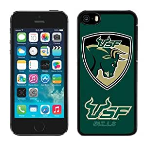 Customized Case For Sam Sung Galaxy S5 Cover with NCAA American Athletic Conference AAC Football South Florida Bulls 5 Protective Cell Phone Hardshell Cover Case For Sam Sung Galaxy S5 Cover Black