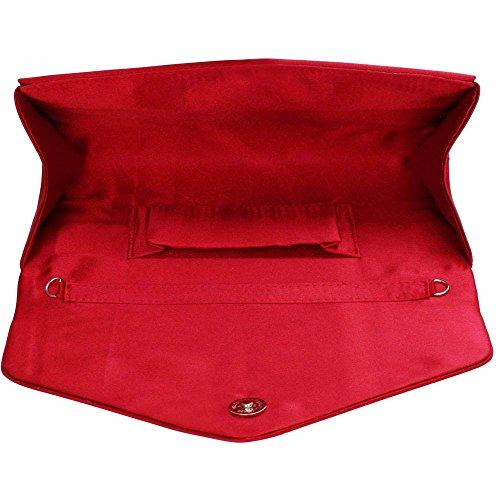 Bolso de mano para mujer, diseño de lentejuelas, para fiesta de graduación, boda, fiesta de tarde Red