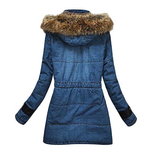 80%OFF Bestfort Damen Plus Samt Warm Mantel Wolle Cowboy