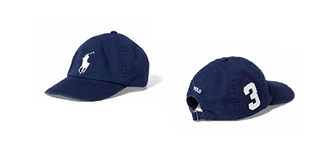 Ralph Lauren Boys Polo Big Pony Sports Cap (2/4T, French Navy). Roll over  image ...