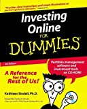 Investing Online for Dummies, Kathleen Sindell, 0764507257