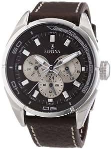 Festina F16609/5 - Reloj de pulsera hombre, piel, color marrón