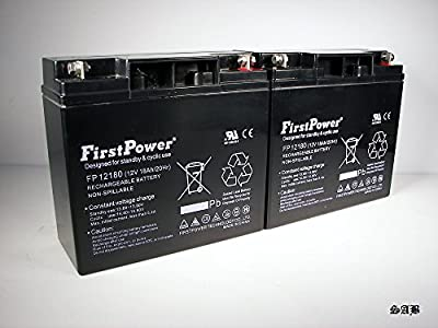 (2) FirstPower 12V 18AH Sealed Lead Acid AGM Rechargeable Deep Cycle Battery USA